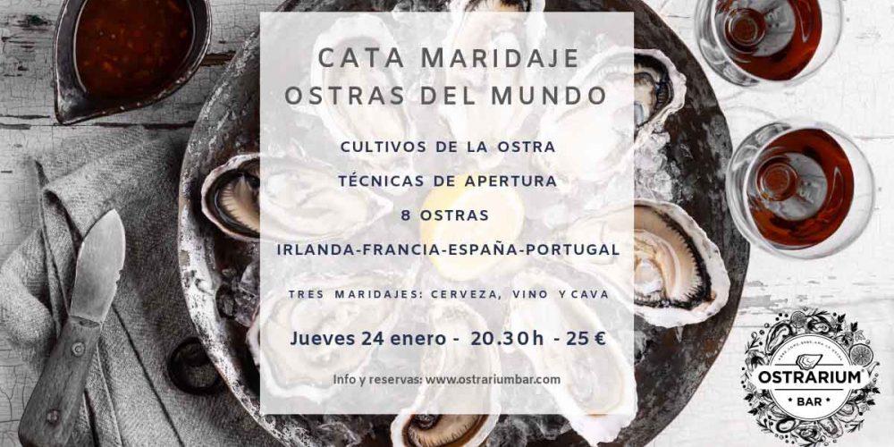 Curso Maridaje Ostras 24 enero 2019