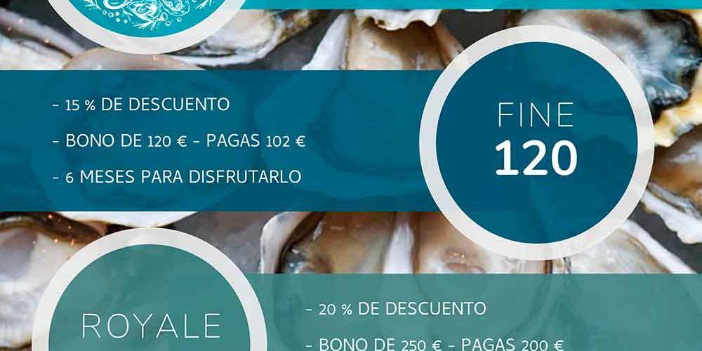 Lanzamiento bonos con unos descuentos muy especiales en ostras.